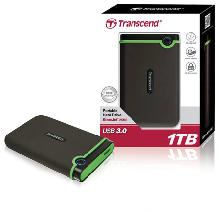 Picture of TRANSCEND ANTISHOCK EXTERNAL HDD 1TB