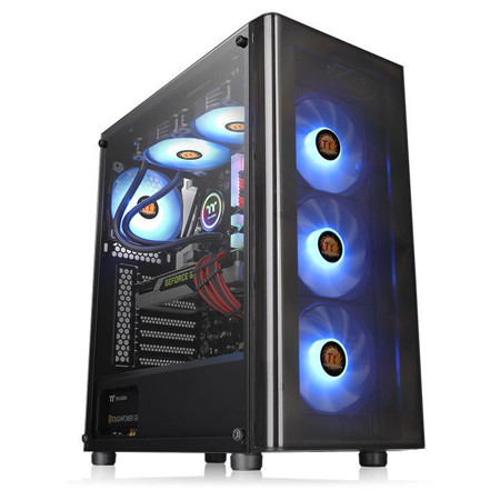 Picture of TT V200 Tempered Glass RGB Edition Mid Tower Chassis