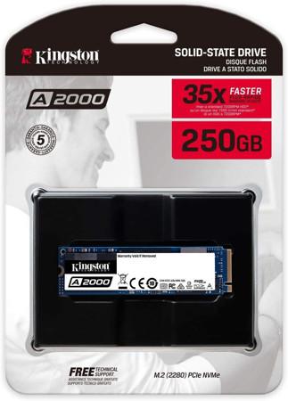 Picture of Kingston 250GB A2000 M.2 2280 Nvme Internal SSD