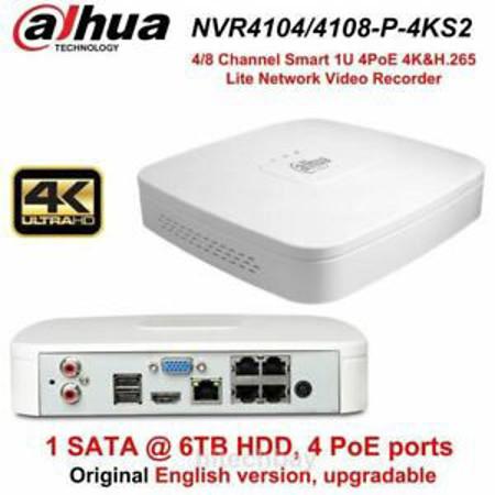 Picture of IP NVR NVR4108-P-4KS2 8 CHANNELS +4-PORT POE SWITCH DAHUA 4K