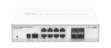 Picture of Mikrotik crs 112-8g-4s-in Cloud Router switch